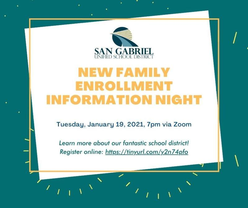 SGUSD New Family Enrollment Info Night Featured Photo