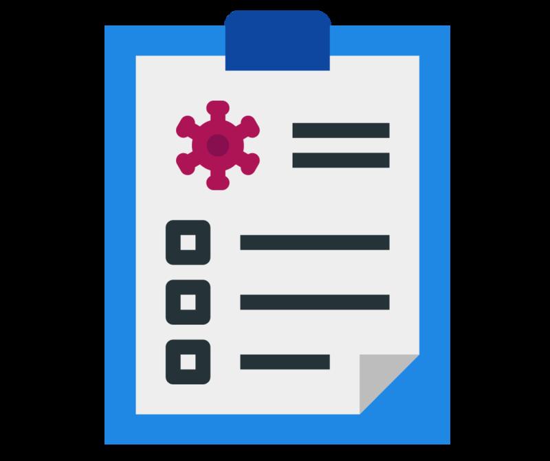 COVID checklist icon
