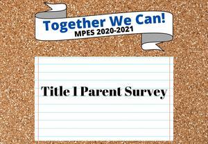 Title 1 Parent Survey
