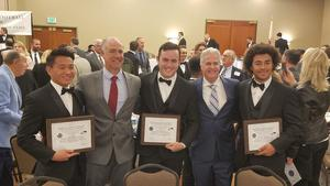 NFF Banquet - Seth Yu, Jack Roberts, Trey Henry - with Coach Curtis and Coach Biehn.jpg
