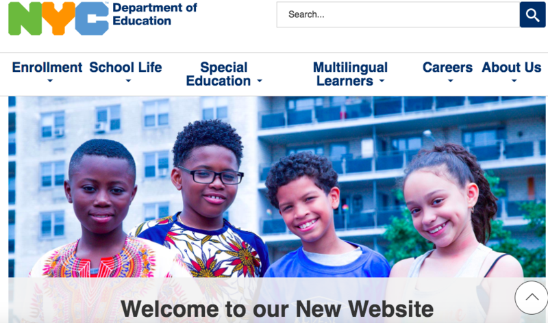 New York City Department of Education launches a new website! Featured Photo