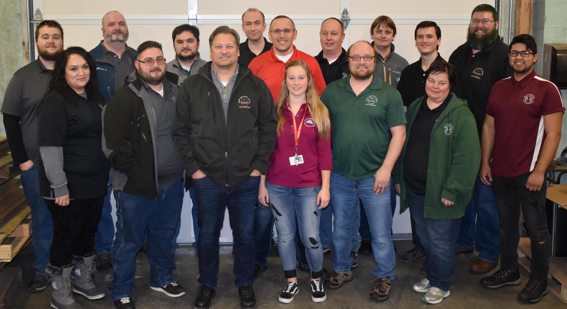 MLSD Tech Staff photo (Names listed below)