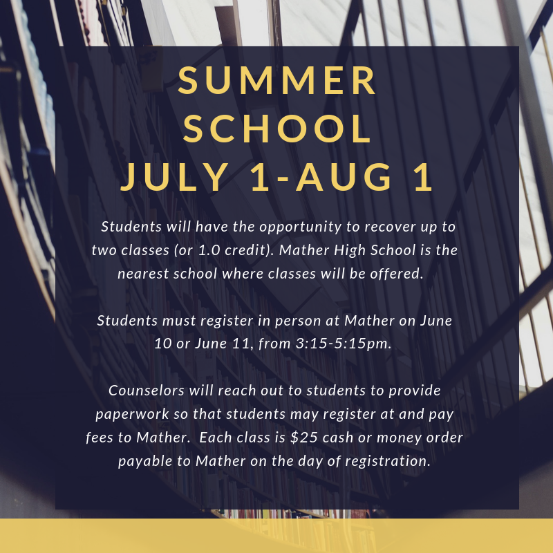 Attention Students: Sign up now for Summer Credit Recovery! Featured Photo