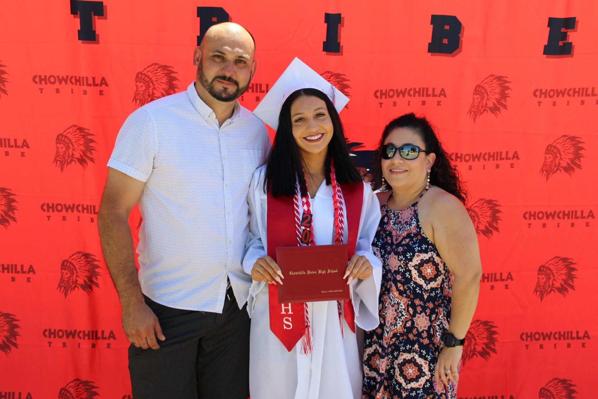 Bella Martinez and family