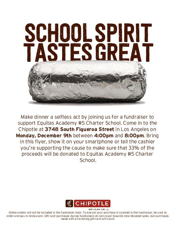Chipotle fundraiser flyer - English