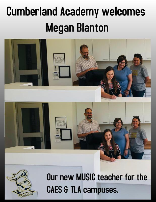 Please welcome Mrs. Blanton to the Cumberland staff family! Featured Photo