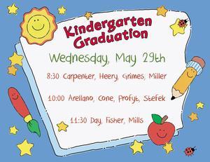 kinder graduation times