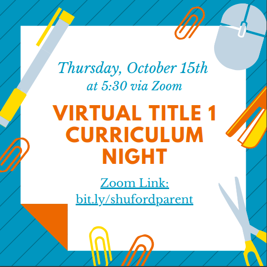 Curriculum Night Flyer