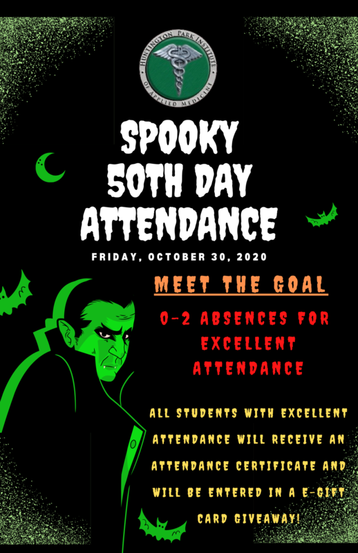 Spooky 50th Day of Attendance - Friday October 30, 2020 Thumbnail Image