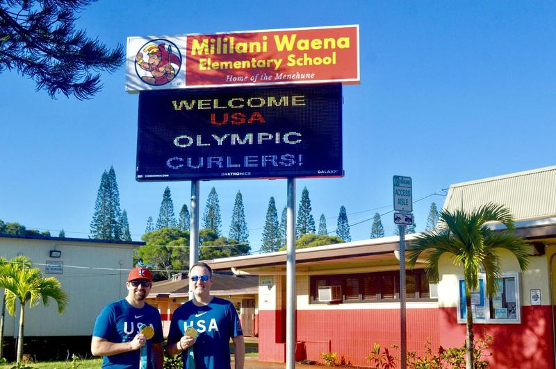 Gold Medal Olympic Curlers Pay a Visit Featured Photo