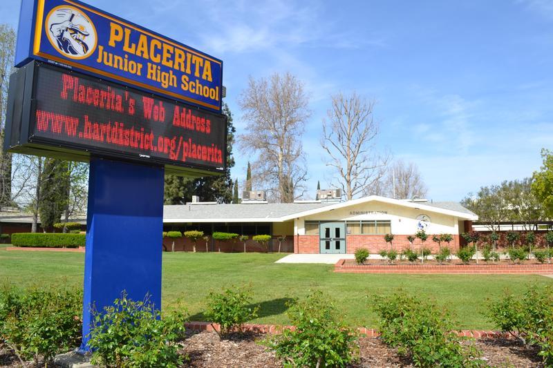 Placerita Junior High School exterior