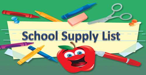 Click here for the Supply List for 2018-19 School Year Thumbnail Image
