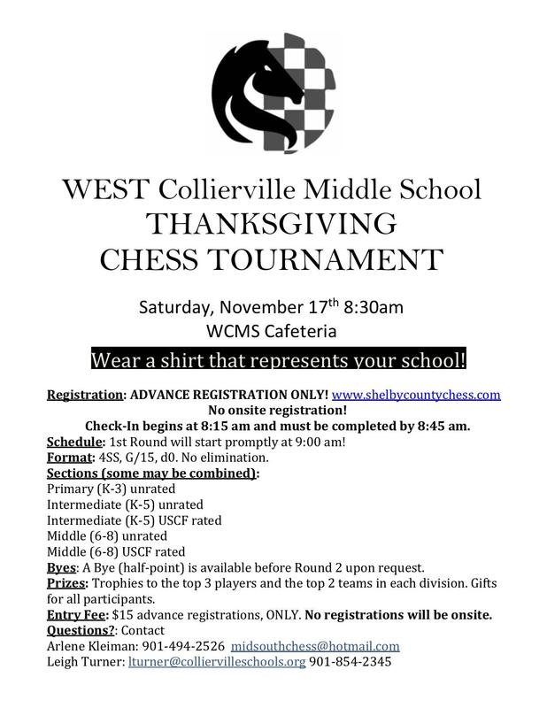 Thanksgiving Chess Tournament at WCMS! Featured Photo