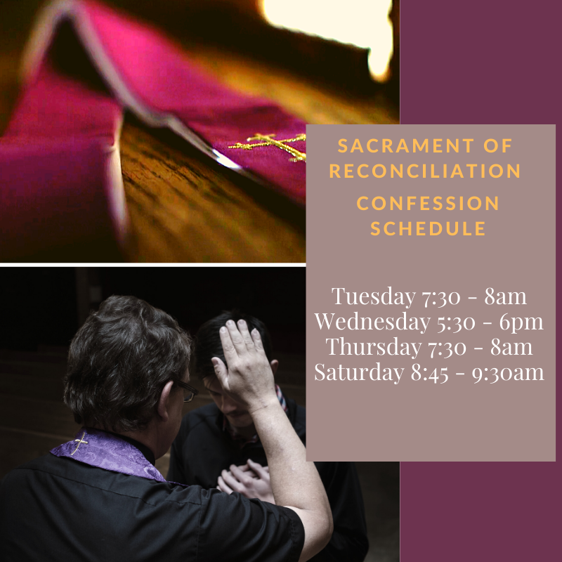 Confession Schedule Featured Photo