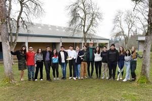 Ukiah High School Science Olympiad Team from the UHS STEM Club. They will compete in the Golden Gate Science Olympiad tournament hosted by Stanford and UC Berkeley students on February 20, 2020