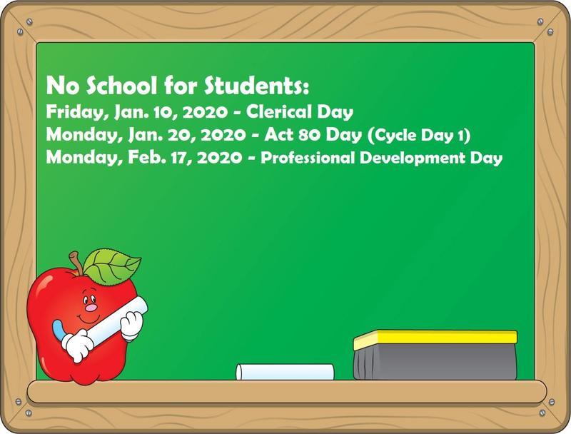 No School Dates