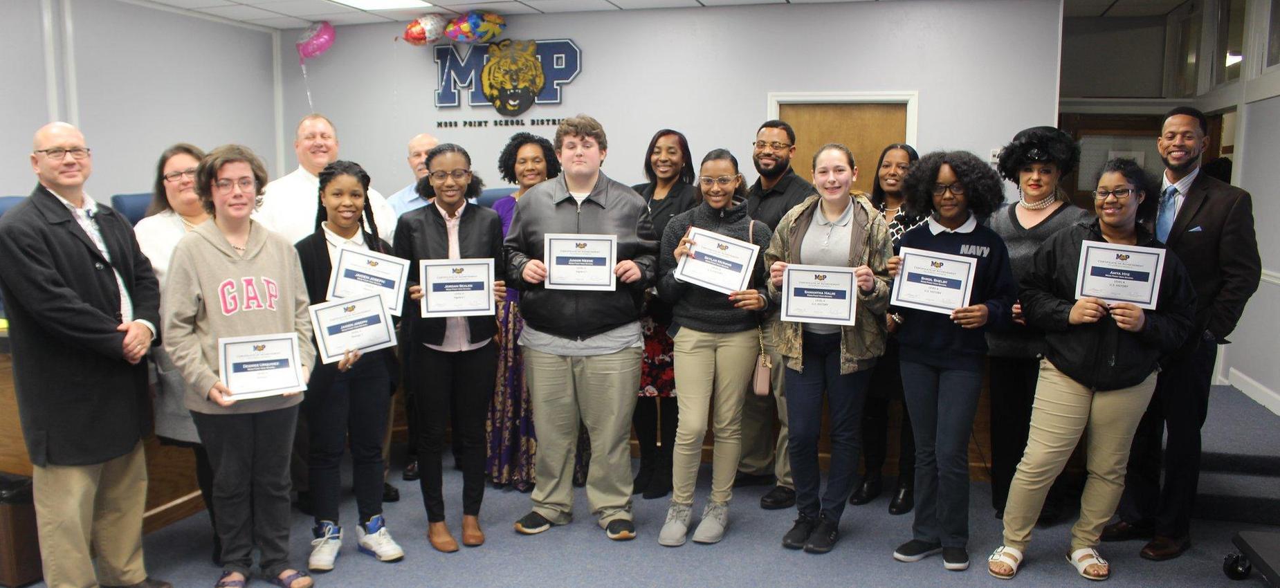 school board awards students