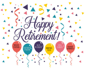 happy retirement to our friends