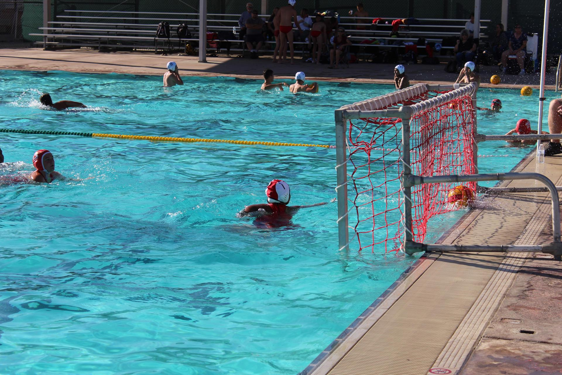 Girls playing water polo vs Kerman