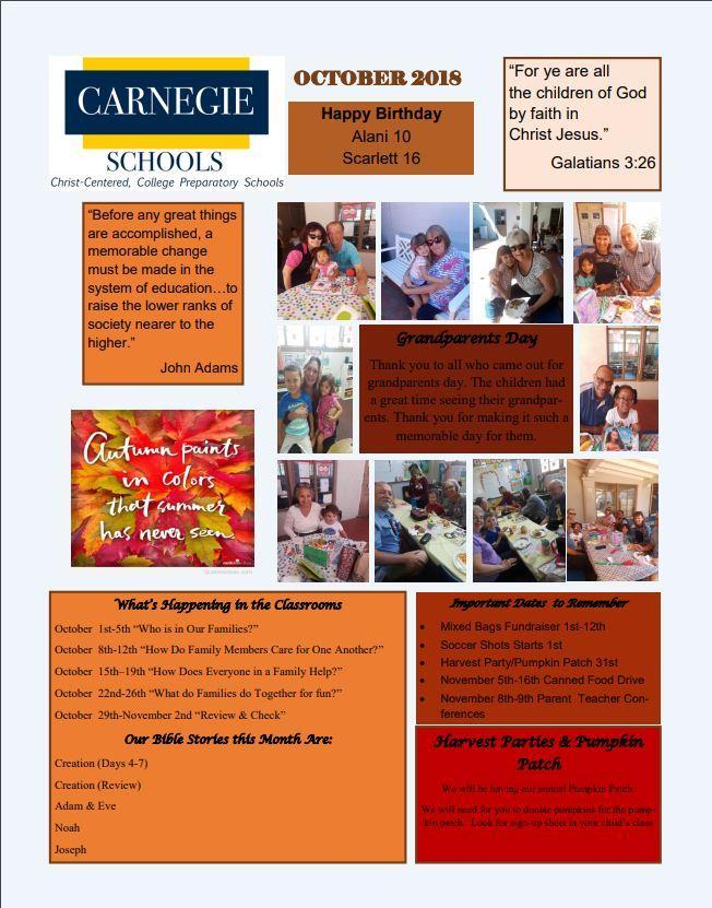 click here to read this months preschool newsletter