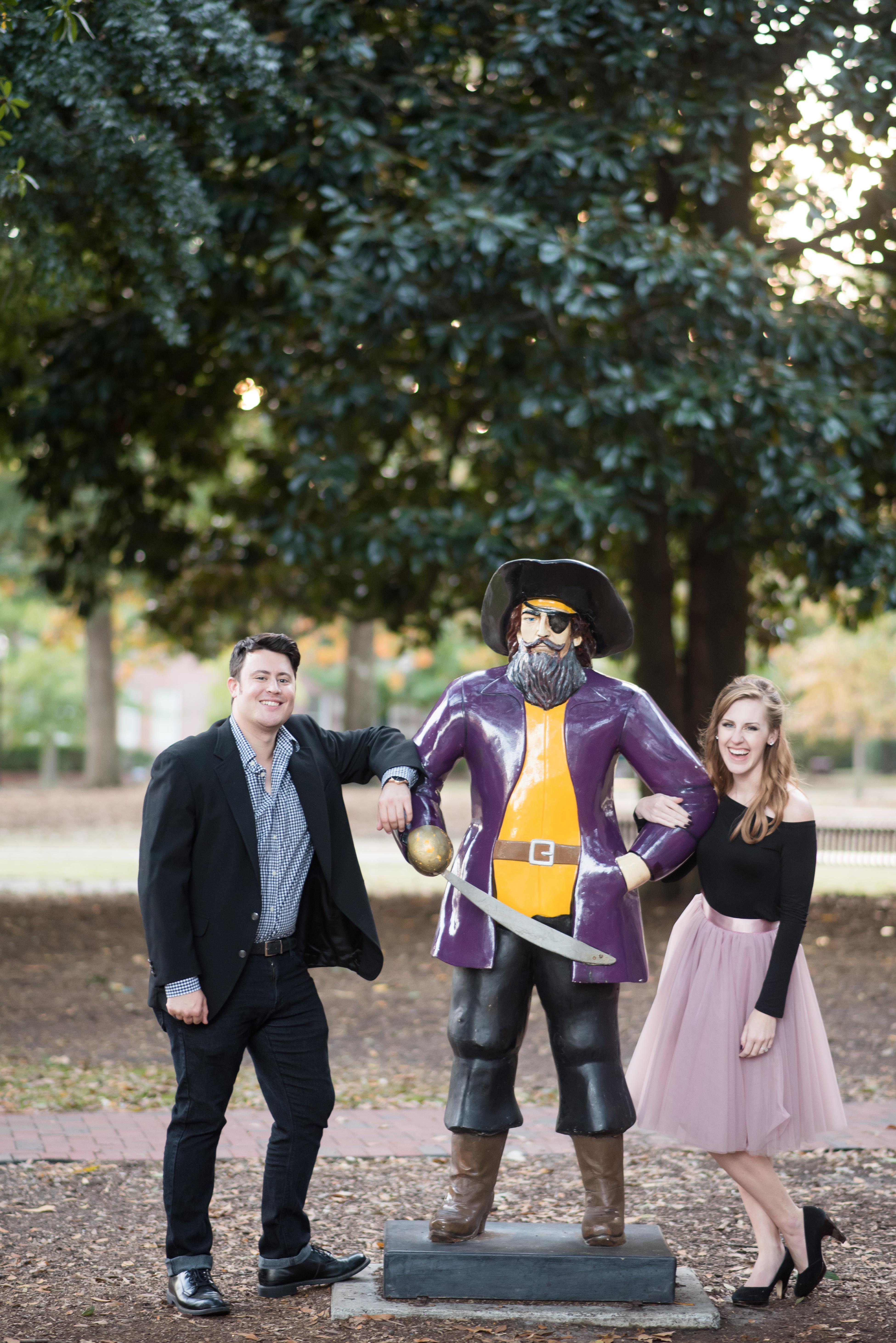 Arlie and Evan Kidd with PeeDee the Pirate