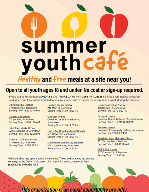 Summer Youth Cafe Info