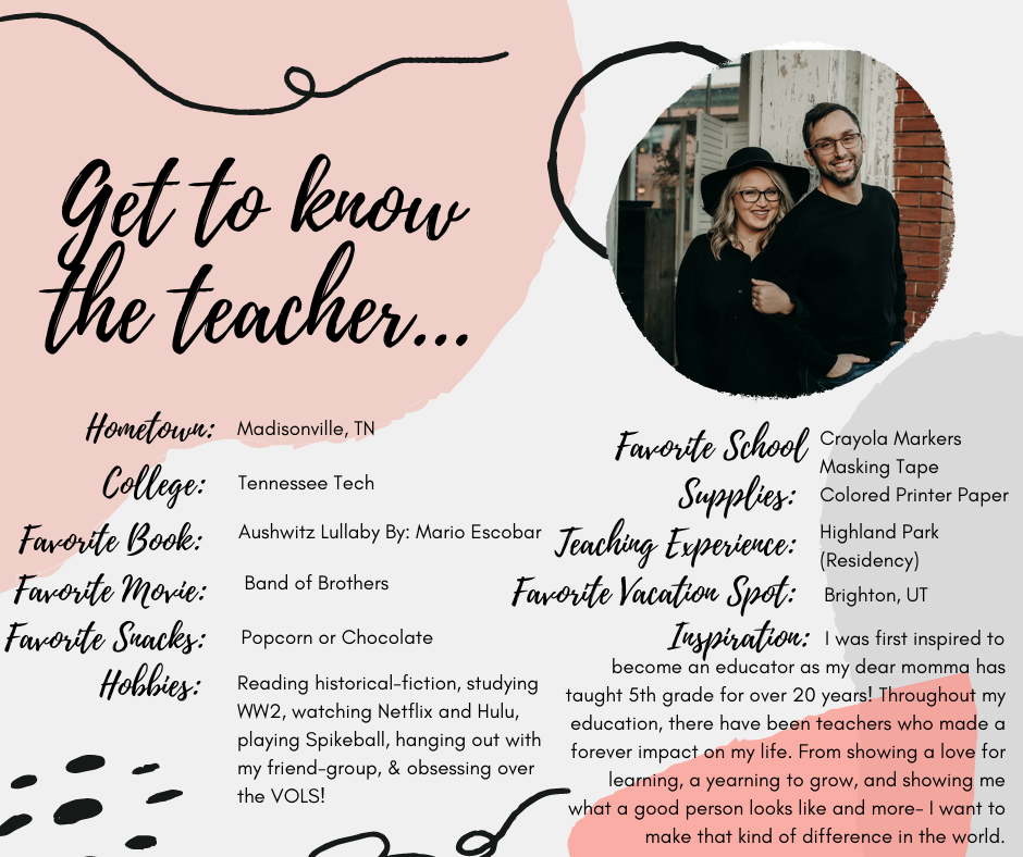 Get to know the teacher