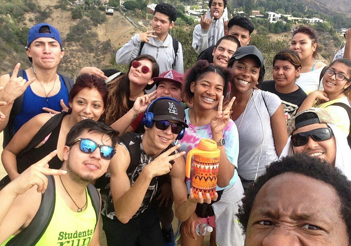 South LA students on a hike
