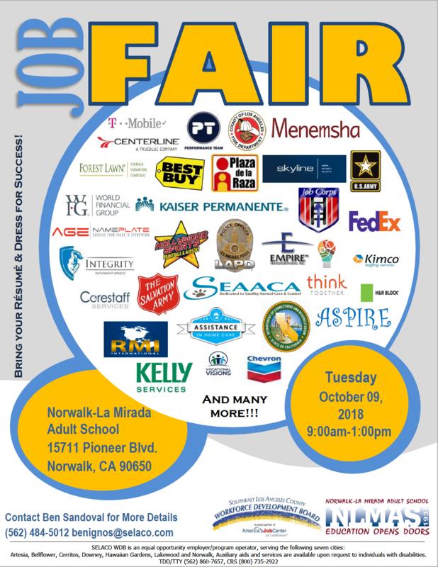 Job Fair on Oct. 9th! Featured Photo