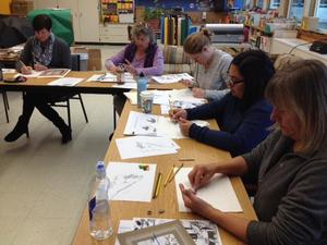 Teachers at the Art Workshop