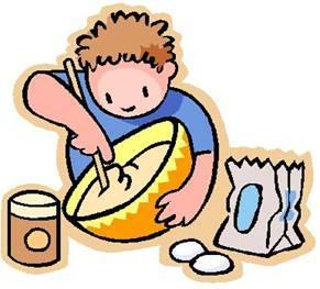 clipart of someone cooking