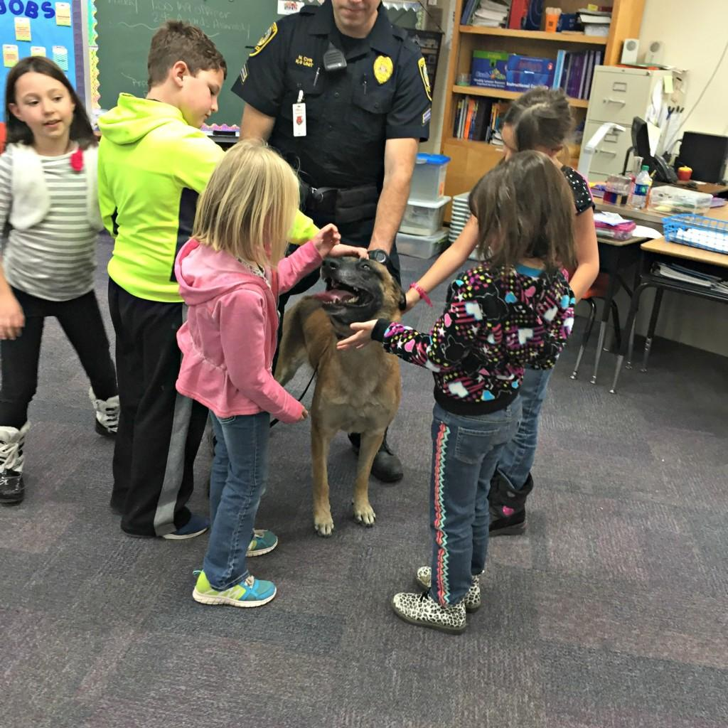 K-9 Dog with 3rd graders #7