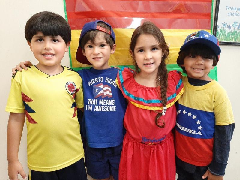 Children dressed for international day