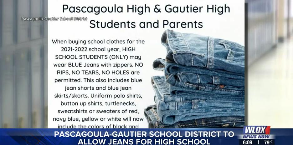 Pascagoula-Gautier Schol District adds jeans to high school dress code
