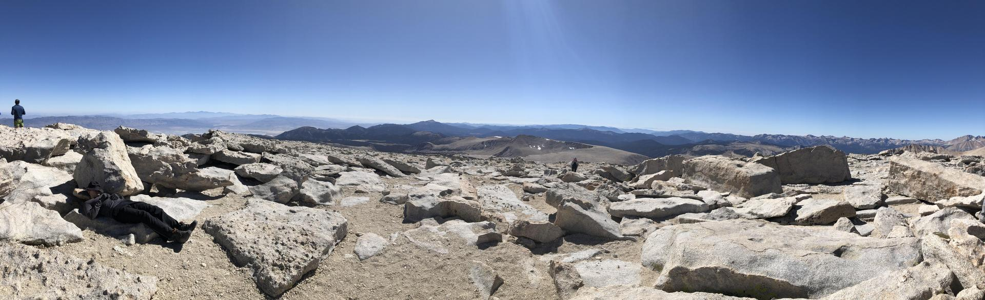 picture take.tn from the top of Mount Langley at over 14,000 ft