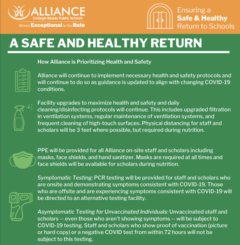 A Safe and Healthy Return Thumbnail Image