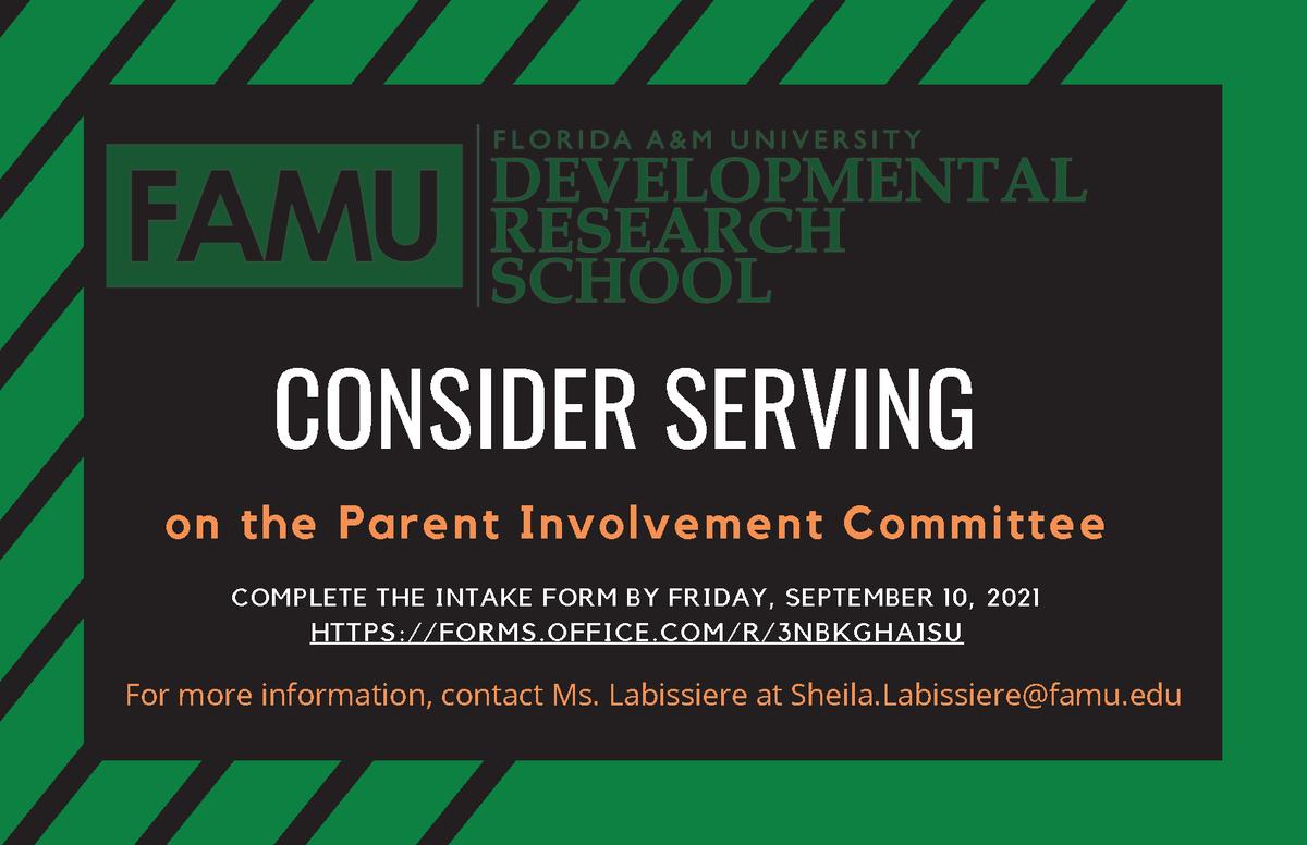 Parent Involement Flyer