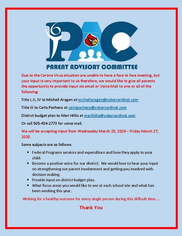 PAC Parent Advisory Committee