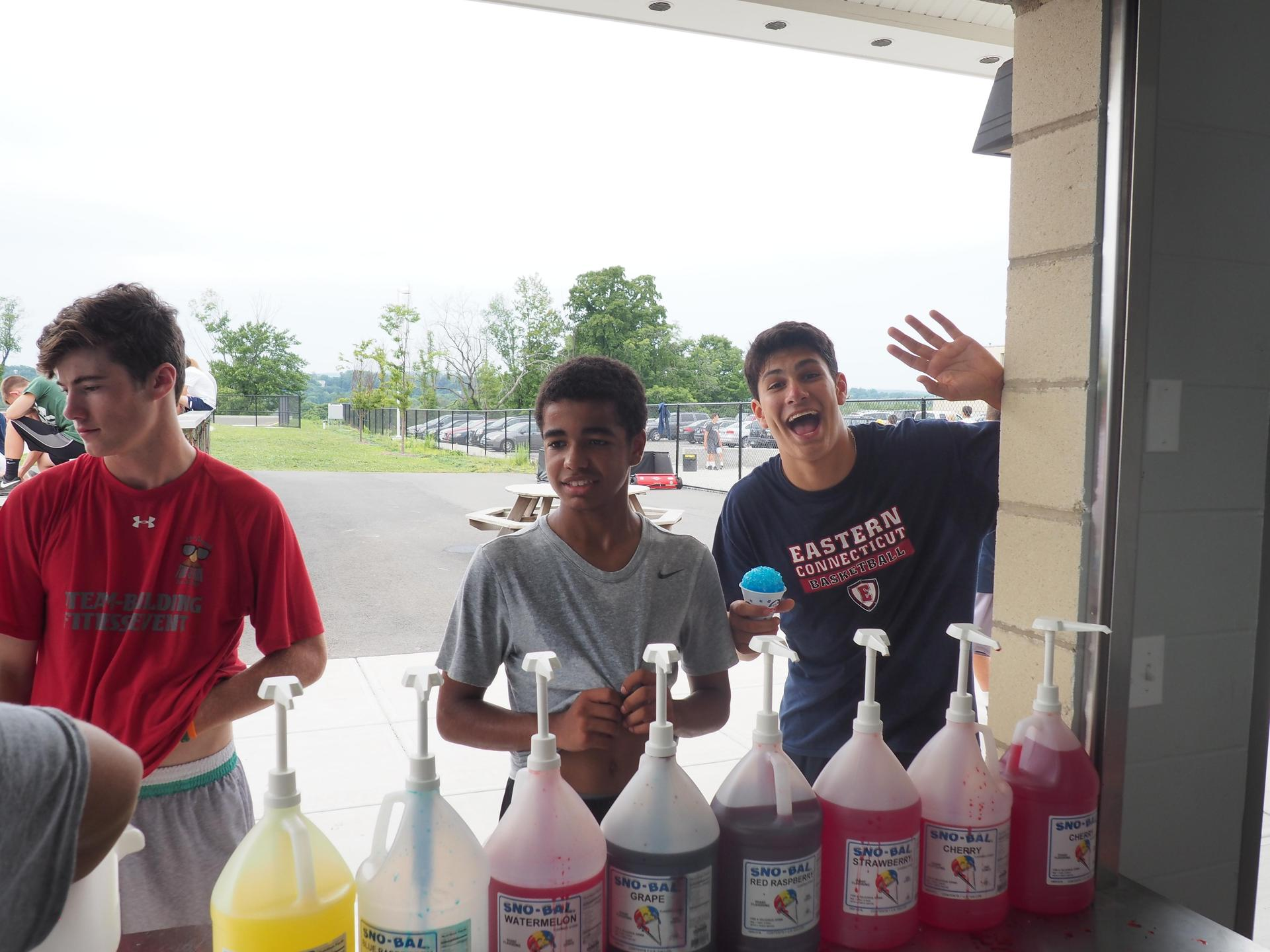 Snow cones at Falcon Blast