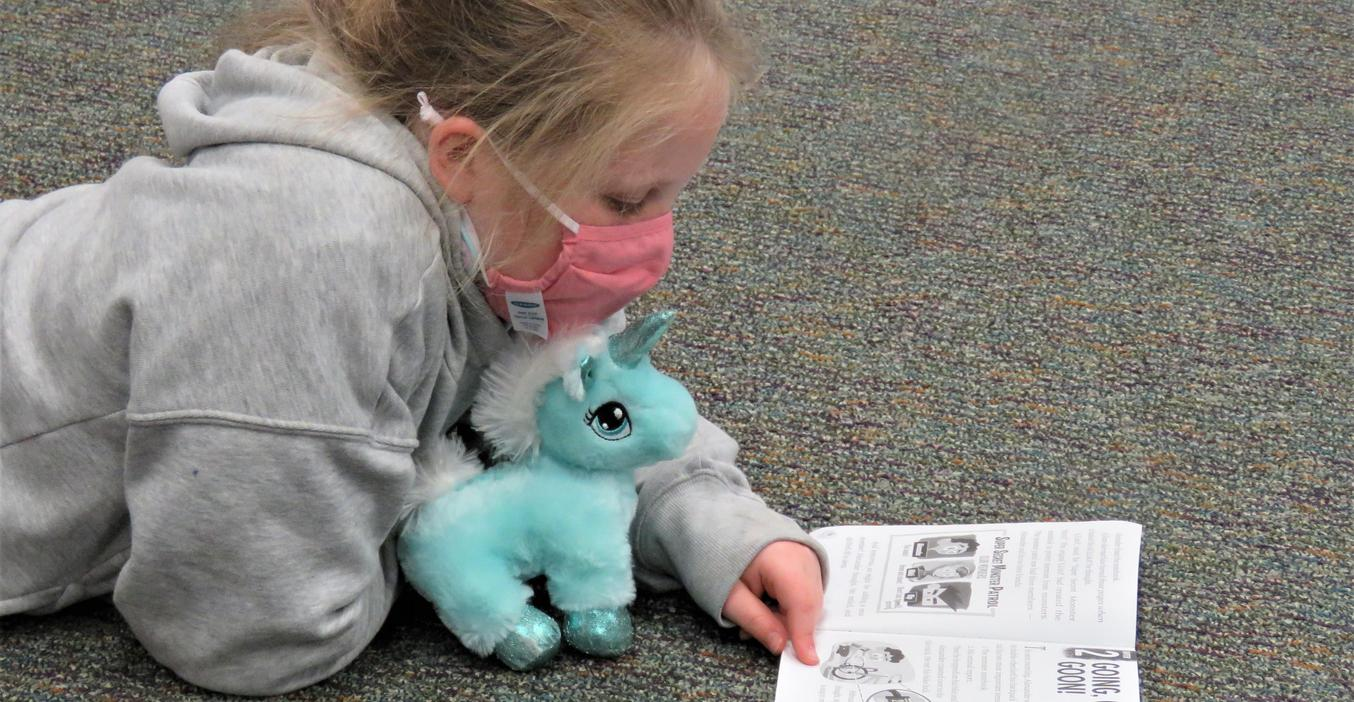 Lee students got to read with their favorite stuffed animal.