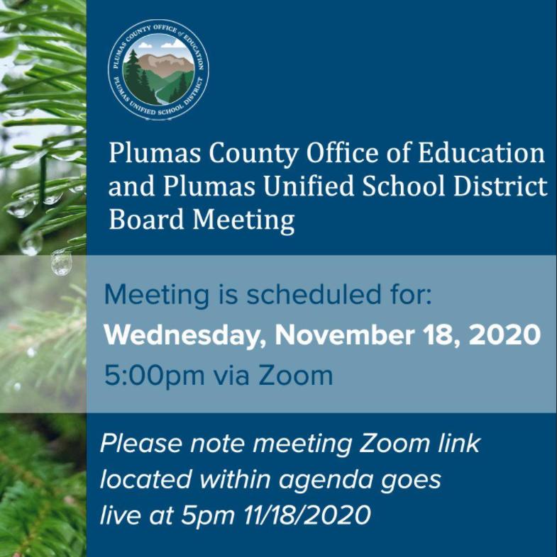 Board Meeting Link Nov. 18 @ 5pm