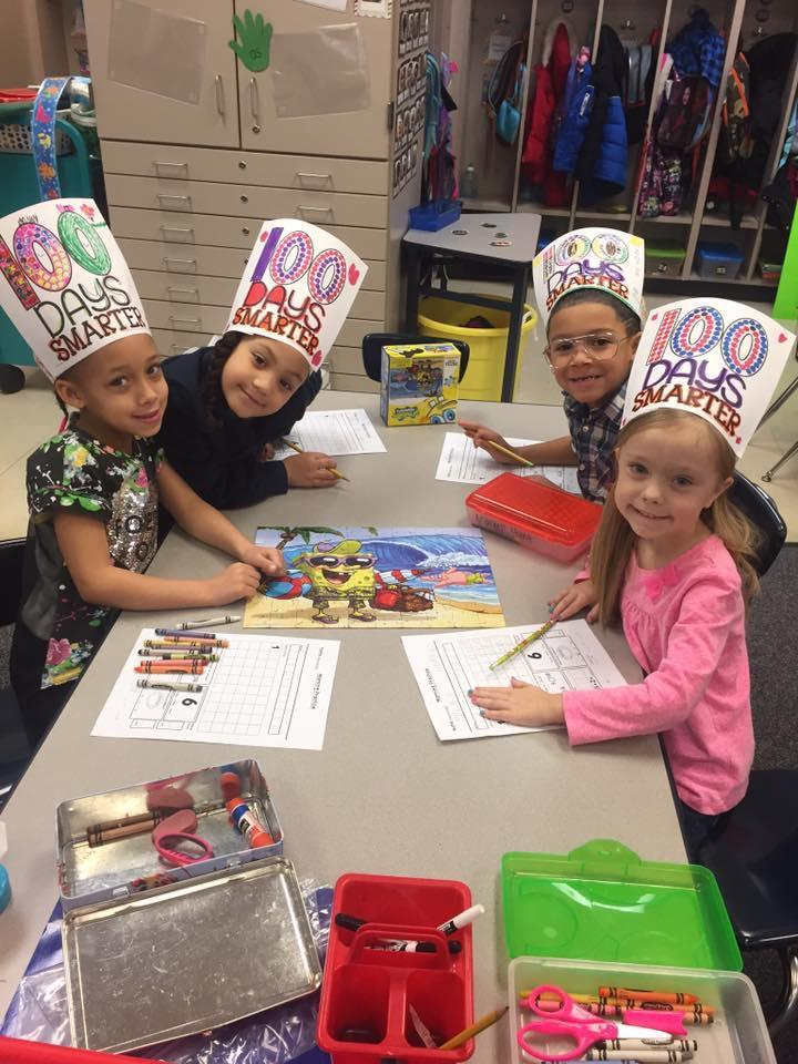 Kindergarten Students 100 days