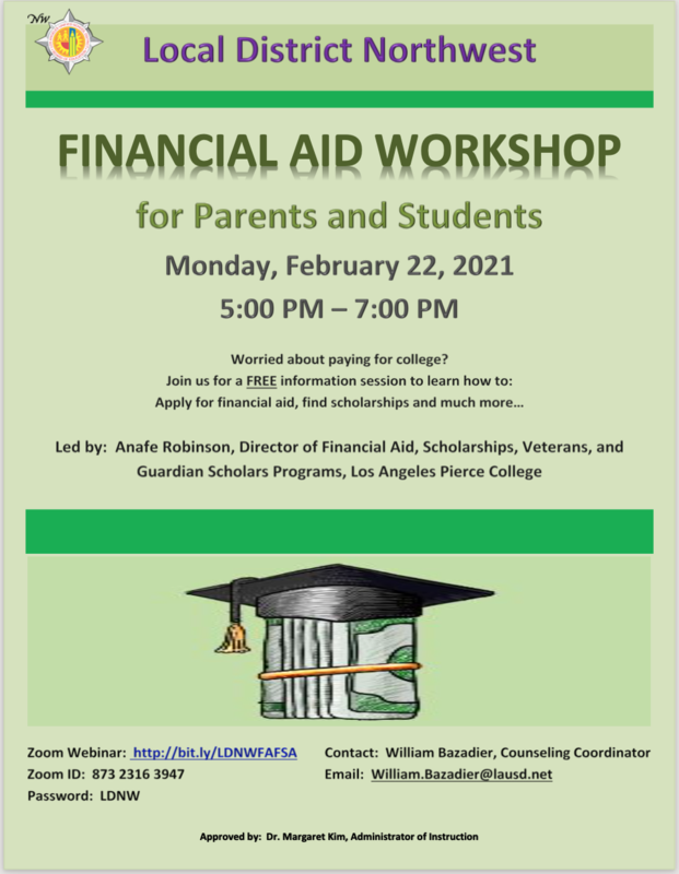 Financial Aid Workshop For Parents and Students Featured Photo