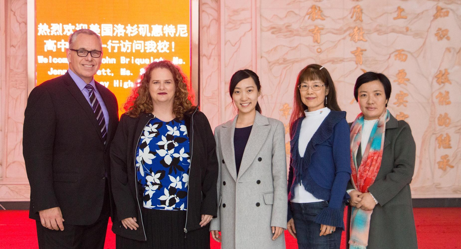 Staff visiting China