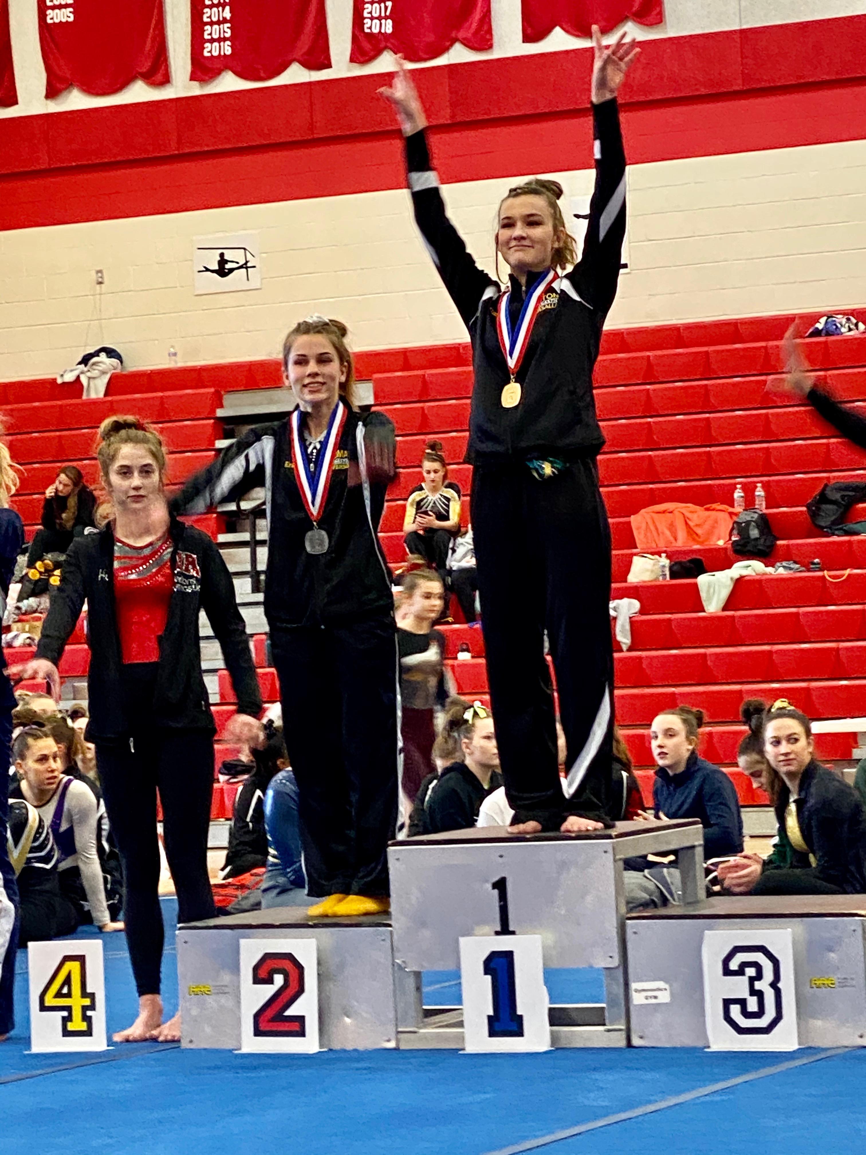 SLS student winning Gold Medal