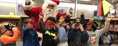 superheros with santa