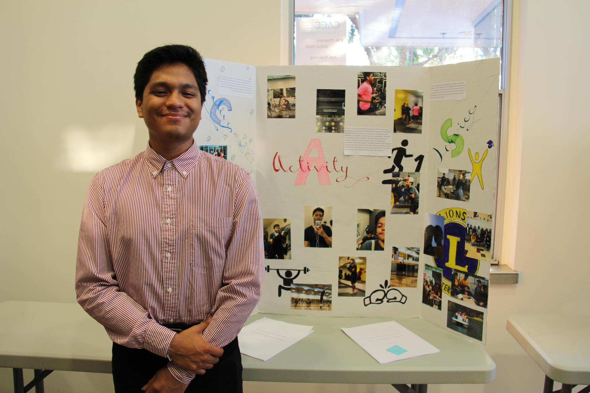 Image of IB Student - Chris - showcasing his Creativity, Activity & Service experiences