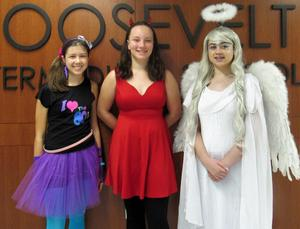 Photo of students dressed in themed costumes for Halloween at RIS.