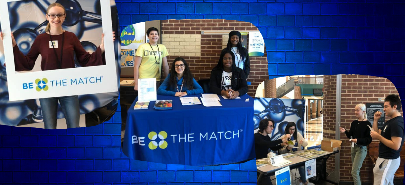 students encouraging testing for potential matches for bone marrow donation