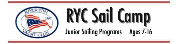 Riverton Yacht Club Sail Camp 2020